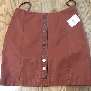 FREE PEOPLE LEATHER SKIRT SIZE 0